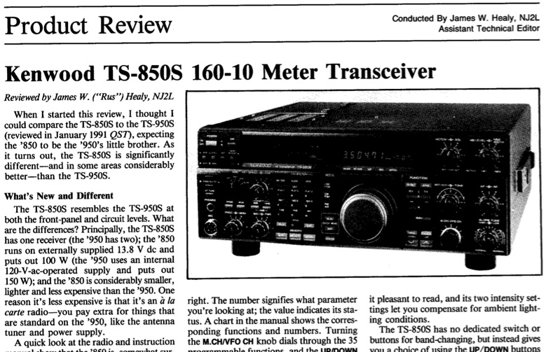 Kenwood TS-850S  Review