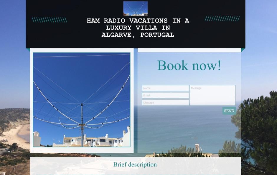 Ham radio holidays in Algarve, Portugal