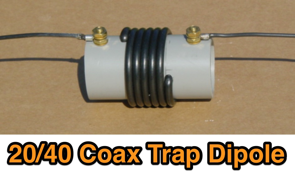 20/40 Meter Short Coax Trap Dipole Antenna