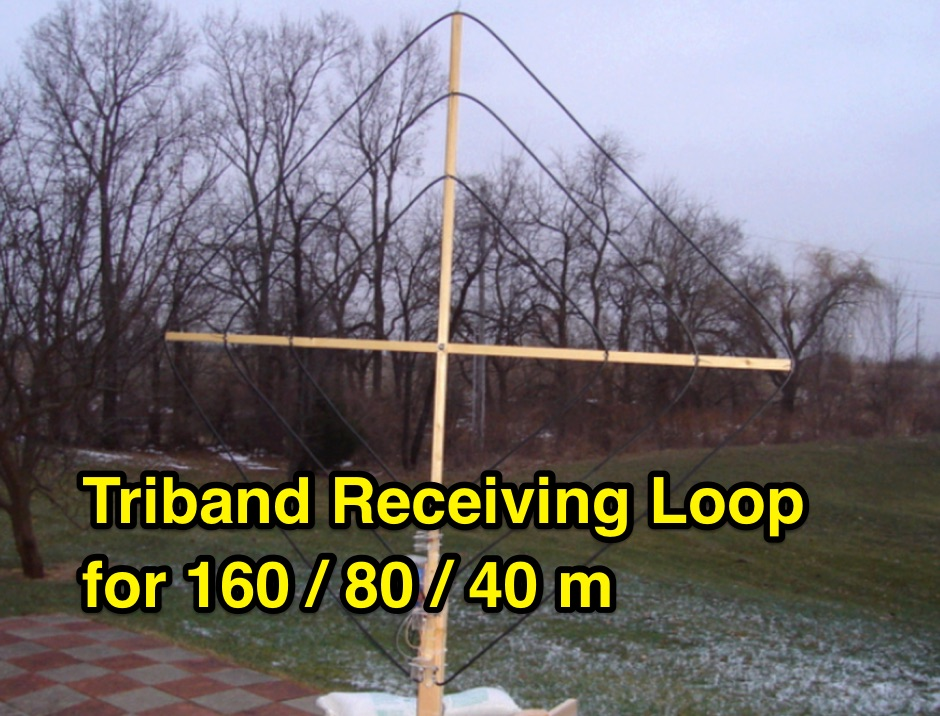 DXZone Triband Receiving Loop for 160/80/40m