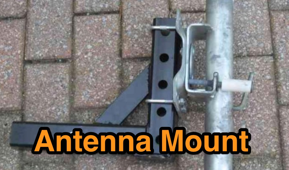 A tilt and lay mount for a trailer hitch
