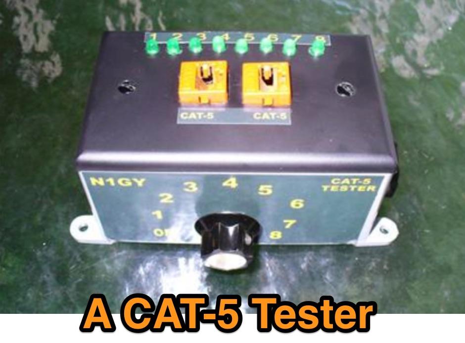 A CAT-5 Tester for Ham Radio