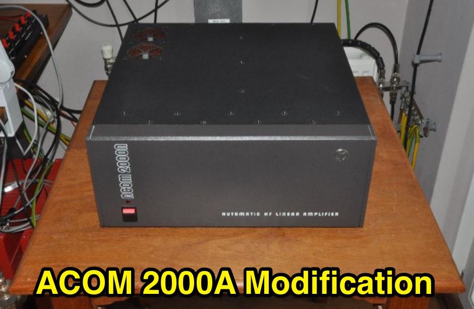 Acom 2000A EBS Mod and Optional Fan