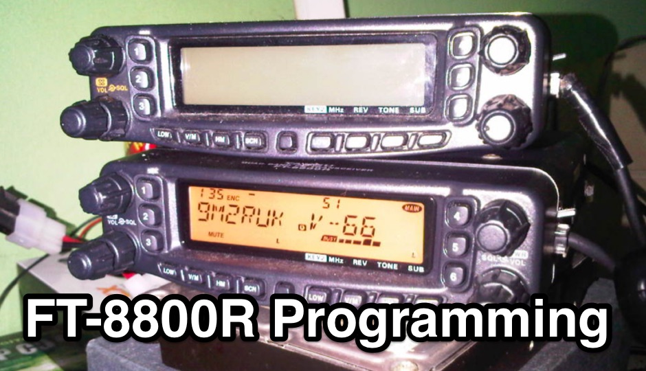 Programming Yaesu FT-8800R