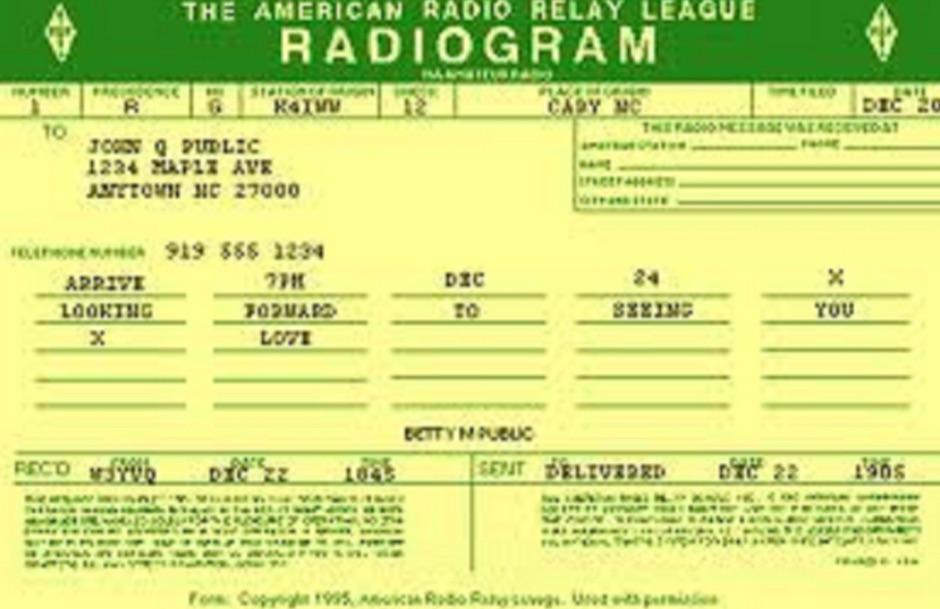 DXZone ARRL Radiogram