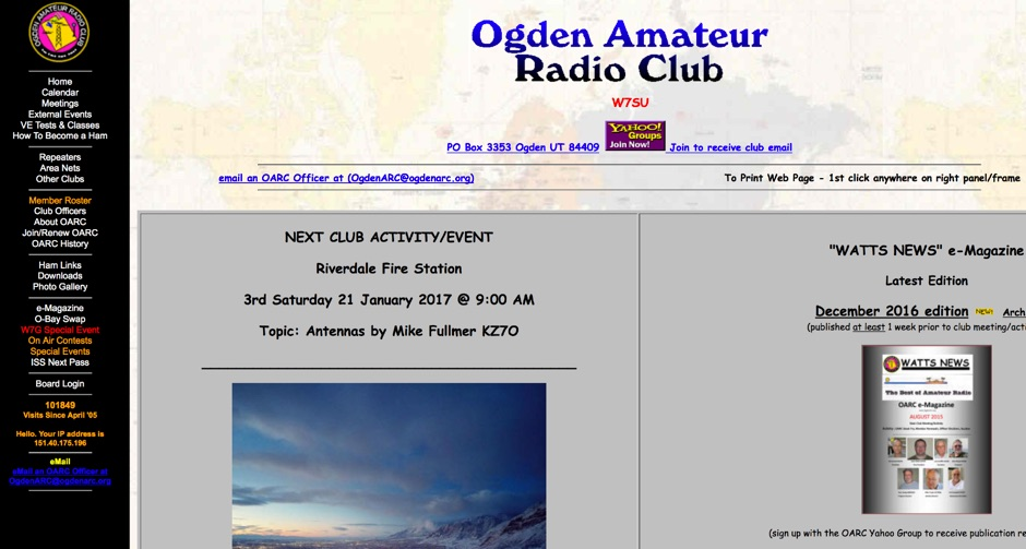 DXZone W7SU Ogden Amateur Radio Club
