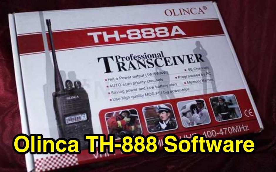 DXZone Olinca TH-888 SV8 Programming Software