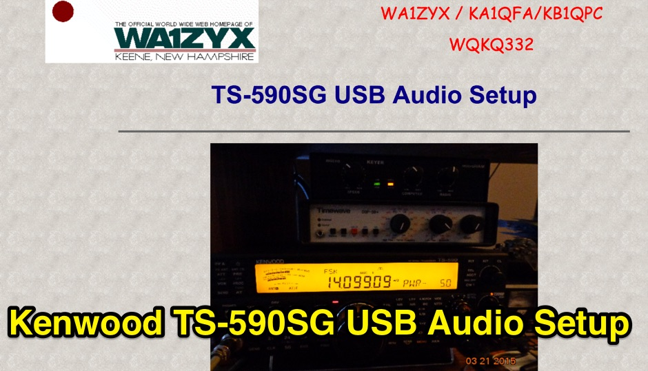 Kenwood TS-590SG USB Setup