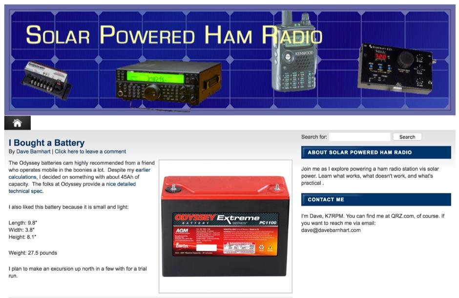Solar Powered Ham Radio