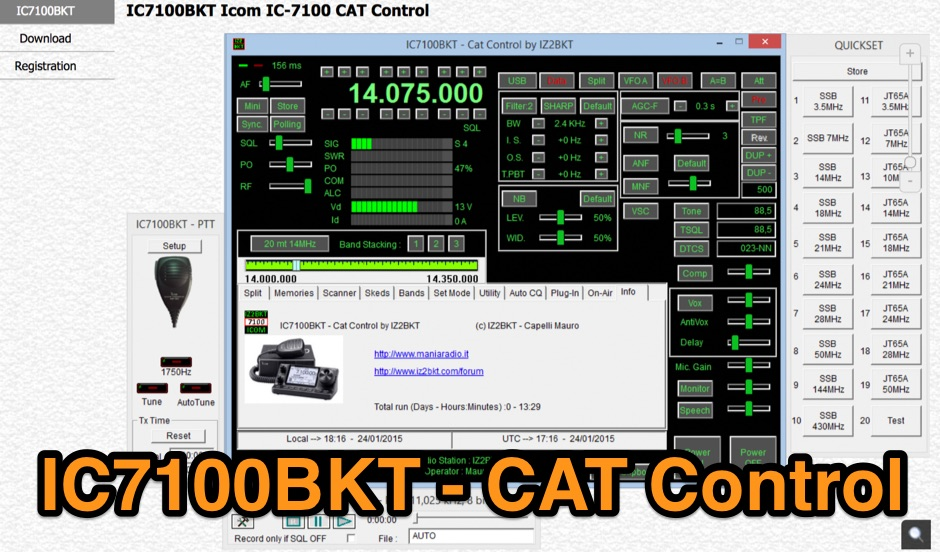 IC7100BKT  IC-7100 CAT Control Software