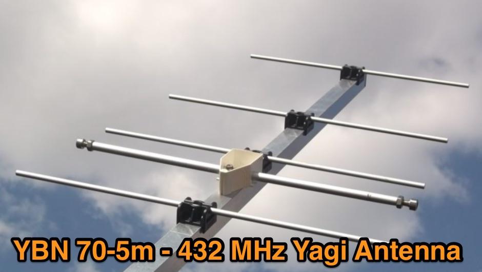 DXZone 432 MHz 5 elements Yagi