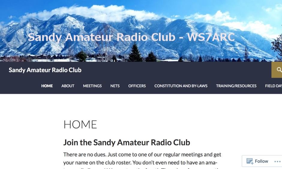 WS7ARC Sandy Amateur Radio Club