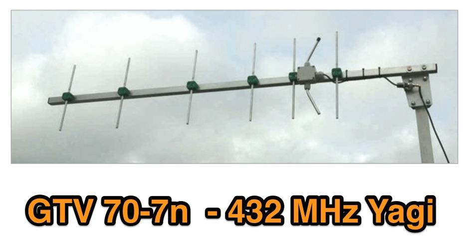 432 MHz yagi antenna