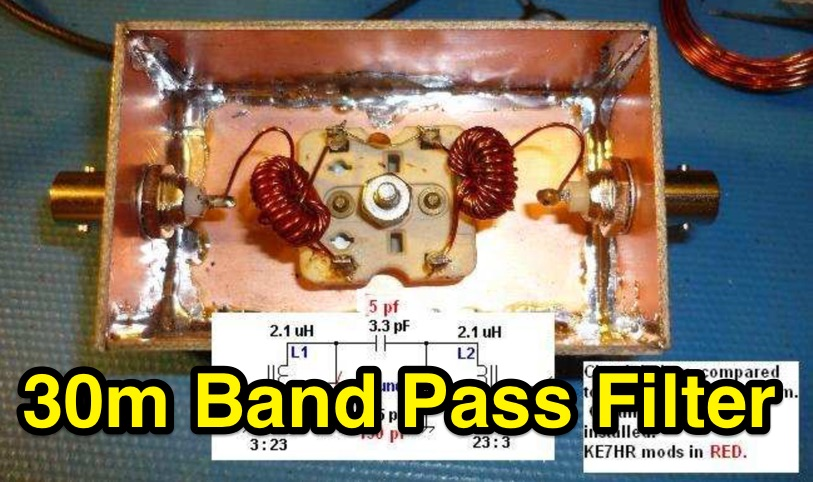 DXZone 30 Meter Band Pass Filter
