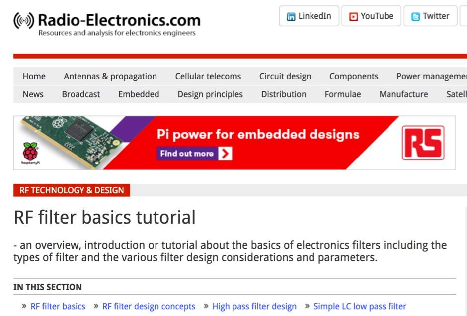 RF filter basics tutorial