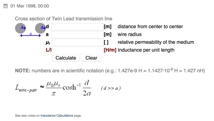 Inductance of Twin Lead