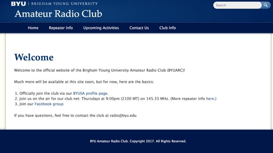 DXZone N7BYU Brigham Young University Amateur Radio Club