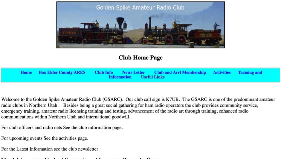DXZone K7UB Golden Spike Amateur Radio Club