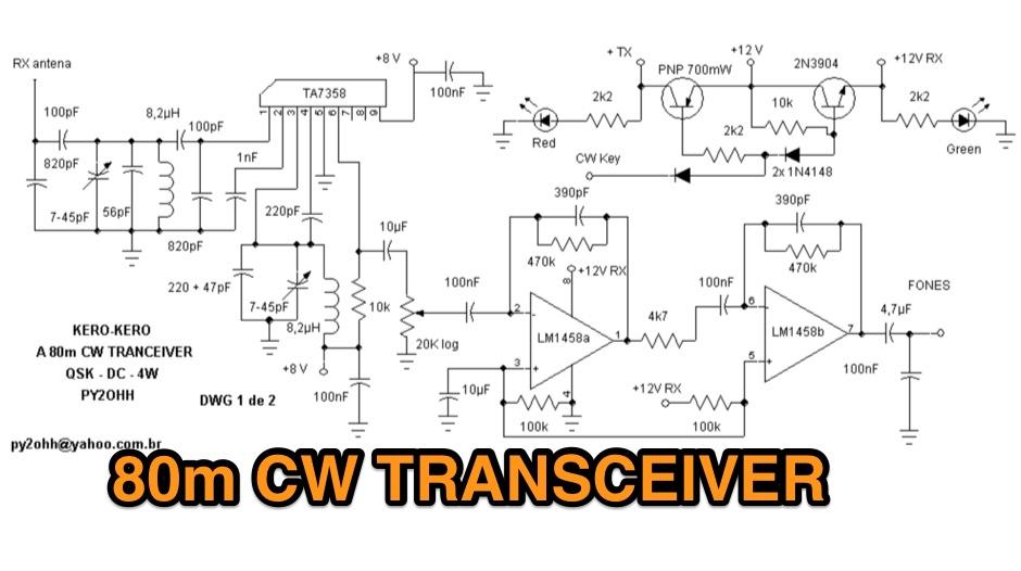 KERO KERO CW 80M Transceiver