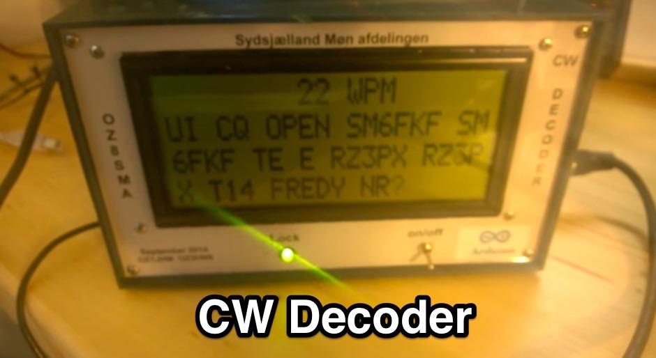 DXZone CW Decoder with Arduino