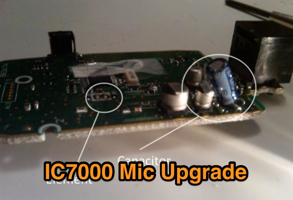 Icom IC7000 Mic Upgrade