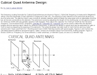 Cubical Quad Antenna Design