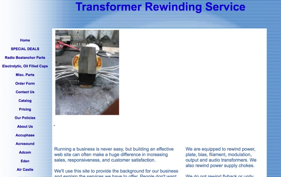 Transformer Rewinding Service