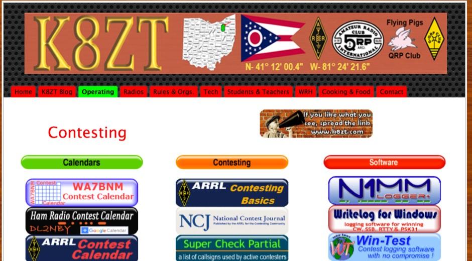 K8ZT Contesting Links