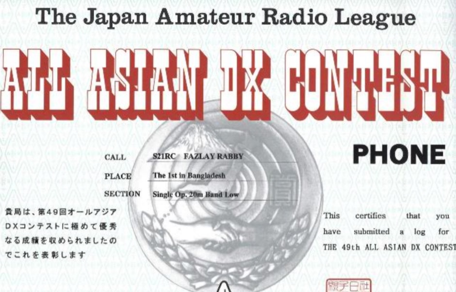 All Asian DX Contest