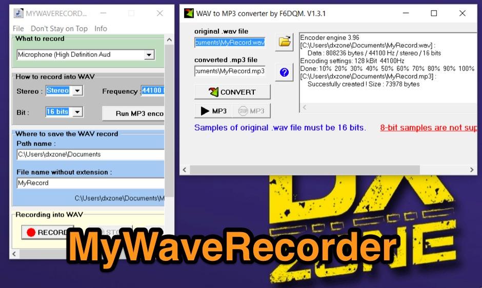 DXZone MyWaveRecorder