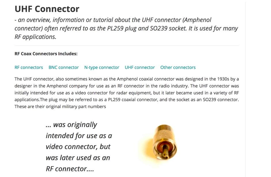 DXZone UHF Connector
