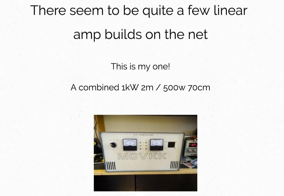 M0VKK VHF UHF Liear Amp
