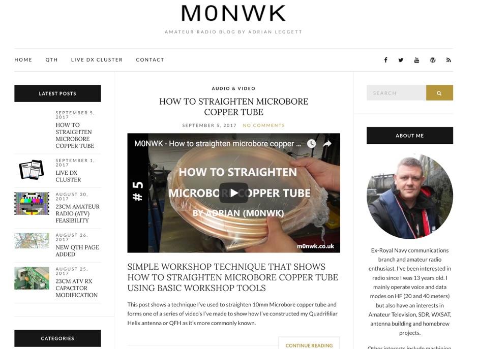 M0NWK Amateur radio blog by Adrian Leggett