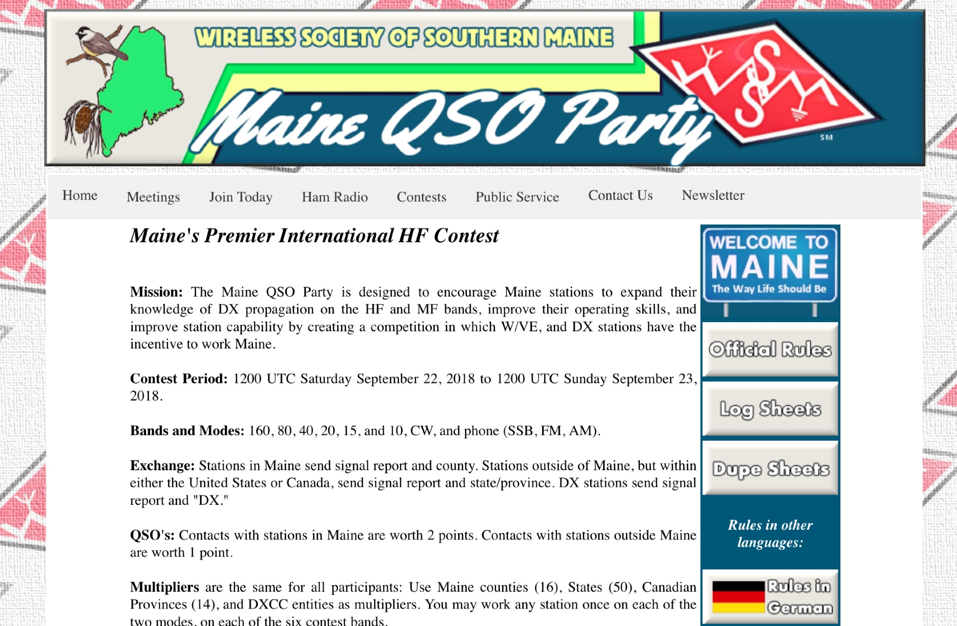 Maine QSO Party