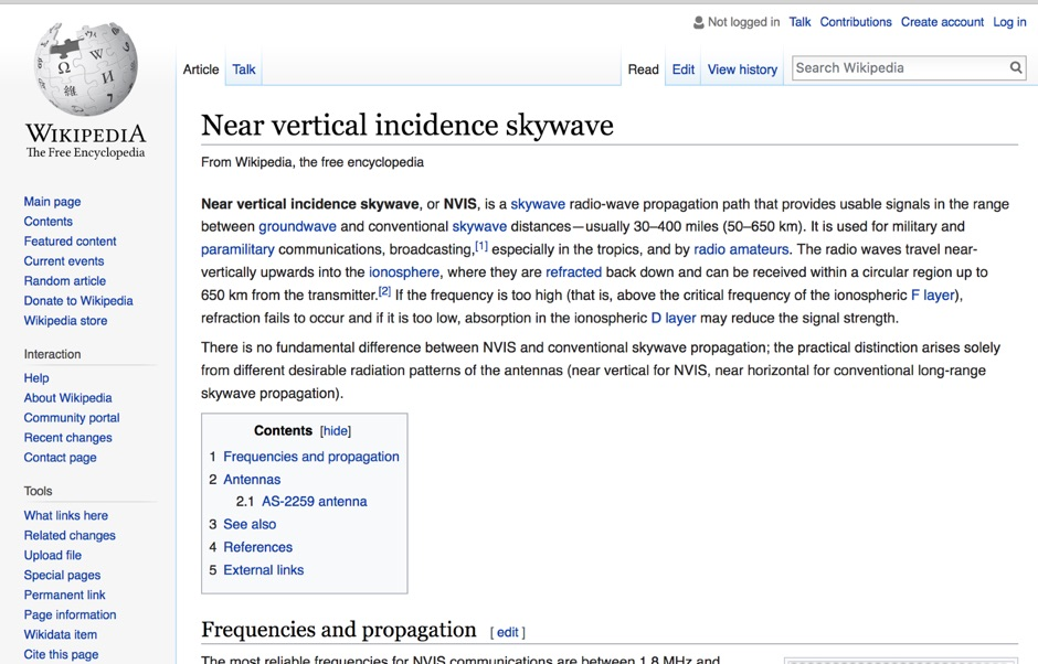 Near vertical incidence skywave - wikipedia