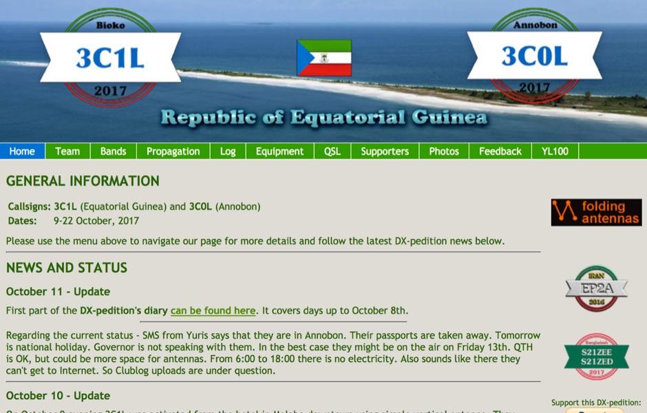 3C1L Equatorial Guinea - 3C0L Annobon DX Pedition