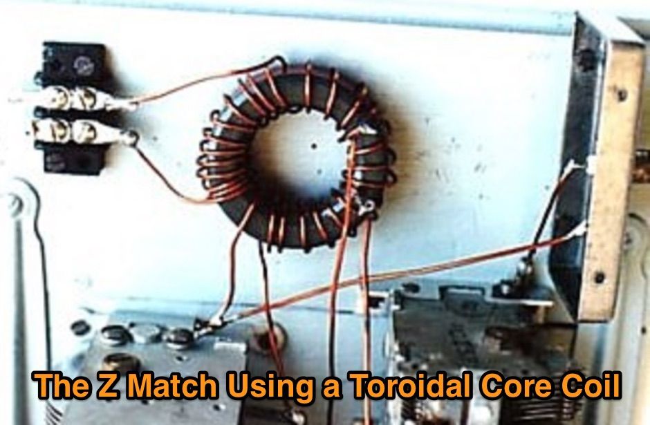 The Z Match Using a Toroidal Core Coil