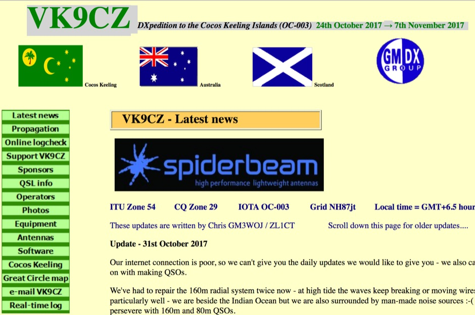 VK9CZ  Cocos Keeling Islands DXpedition