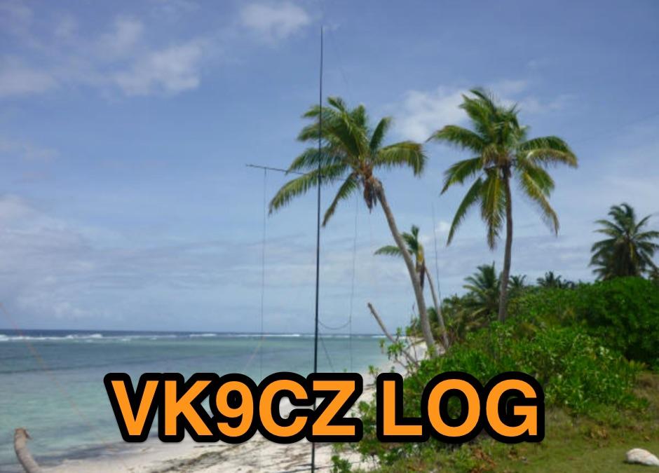 DXZone VK9CZ  Log
