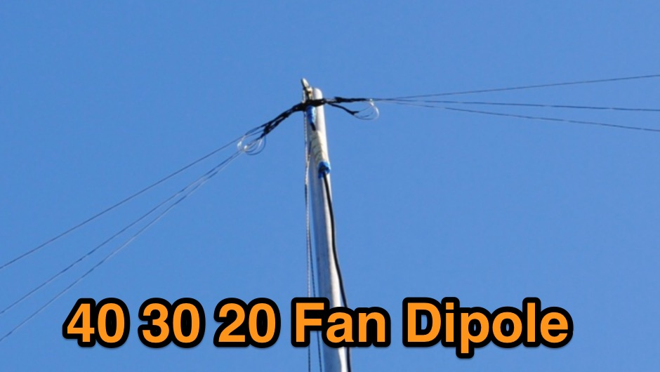 DXZone Compact fan dipole for 40 30 and 20 meters band