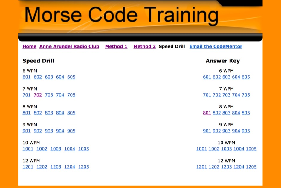 Morse Code Speed Practice files