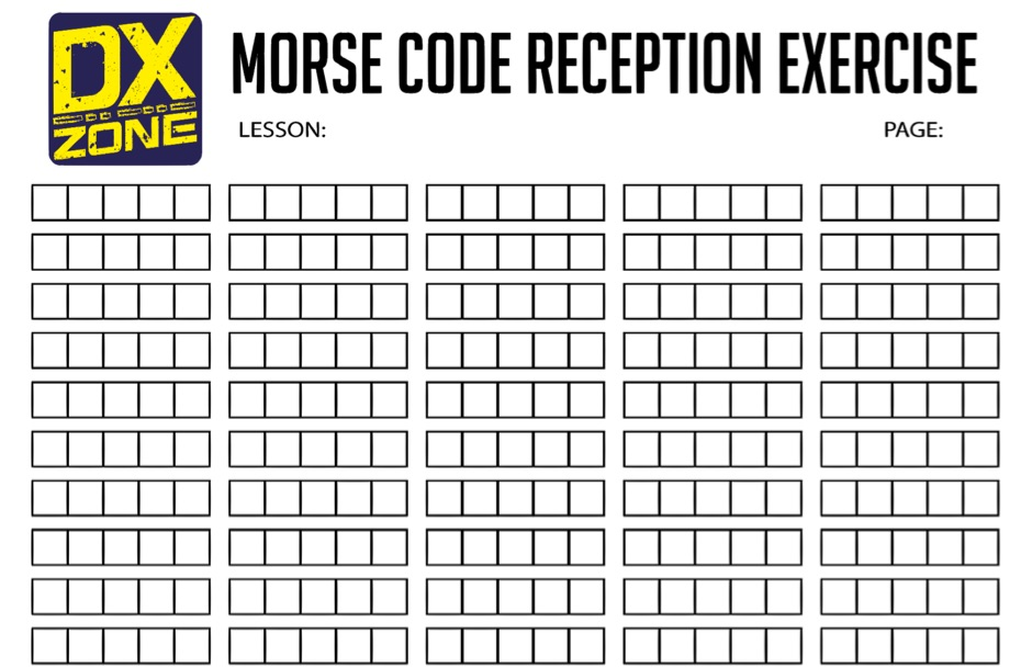 Morse Code Reception - Exercise sheet