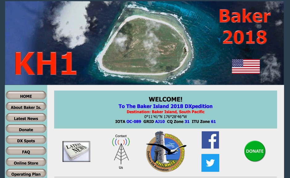 KH1/KH7Z Baker Island DX Pedition