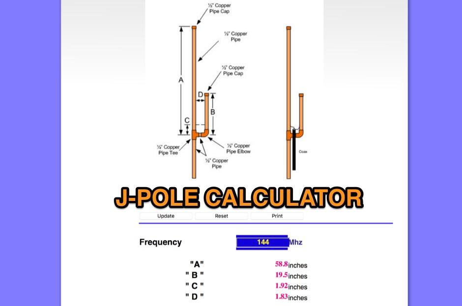 J-Pole Antenna Plan and Calculator