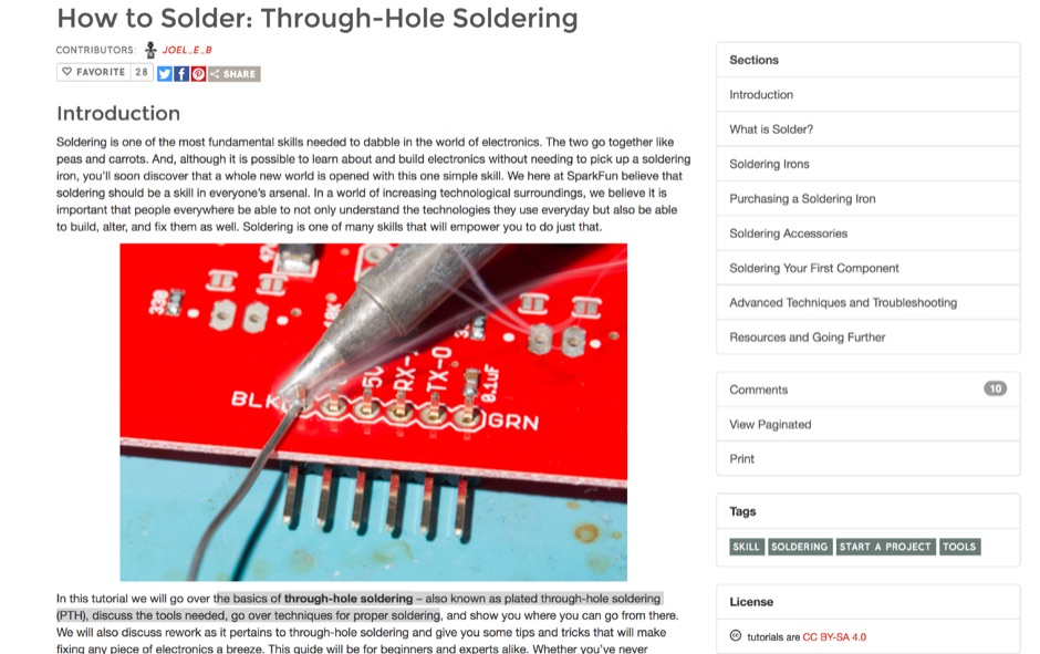 How to Solder: Through-Hole Soldering