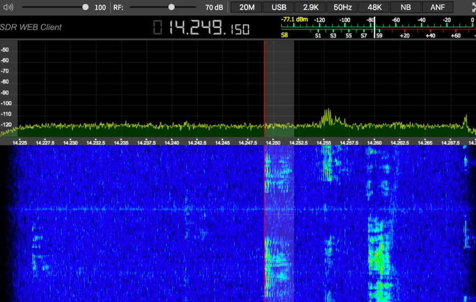 Web SDR in Montreal Canada