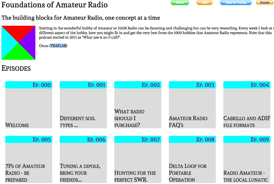 Foundations of Amateur Radio - Podcast