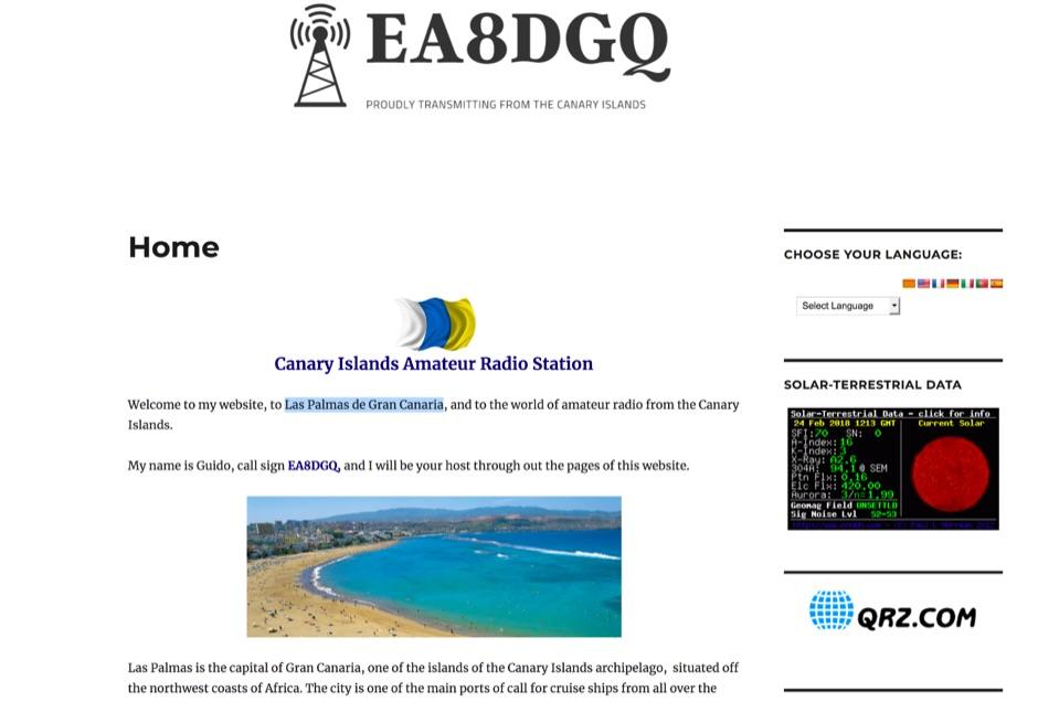 EA8DGQ Guido personal web site