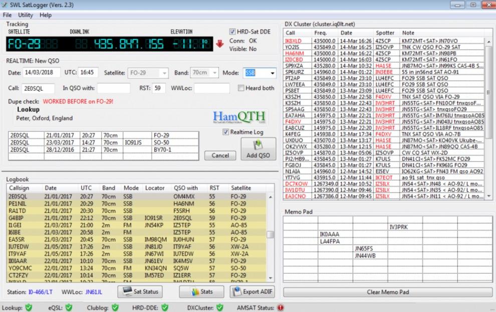 SWL Log Software