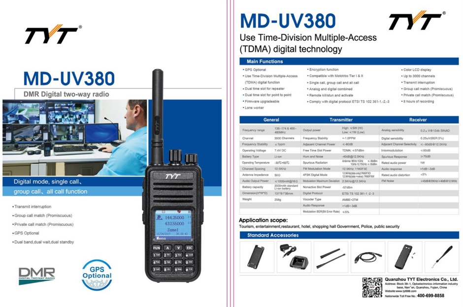 DXZone How to program Tytera MD-380 DMR Radio